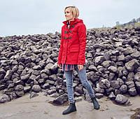 Куртка женская демисезонная весна-осень, Softshell красная