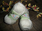 Alize Bamboo & Cotton Бамбук и Коттон (Дует) 01 молочный