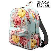 Рюкзак цветы на мятном