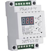 Двухзонный цифровой термостат для теплого пола Terneo k2 на DIN-рейку