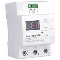 Цифровой термостат для теплого пола повышенной мощности Terneo b20 на DIN-рейку