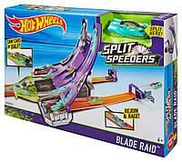 Трек Хот Вилс Острые Лезвия - Молниеносные половинки Hot Wheels Split Speeders Playset