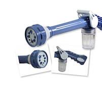 Распылитель воды универсальный Ez Jet Water Cannon, насадка на шланг водомет с отсеком для моющих средств, фото 2