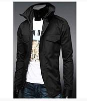 Приталенная куртка с карманами на кнопках