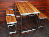 Мебель из дерева и металла для баров