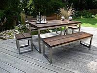 Мебель из дерева и металла садовая