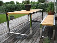 Мебель из дерева и металла для заведения