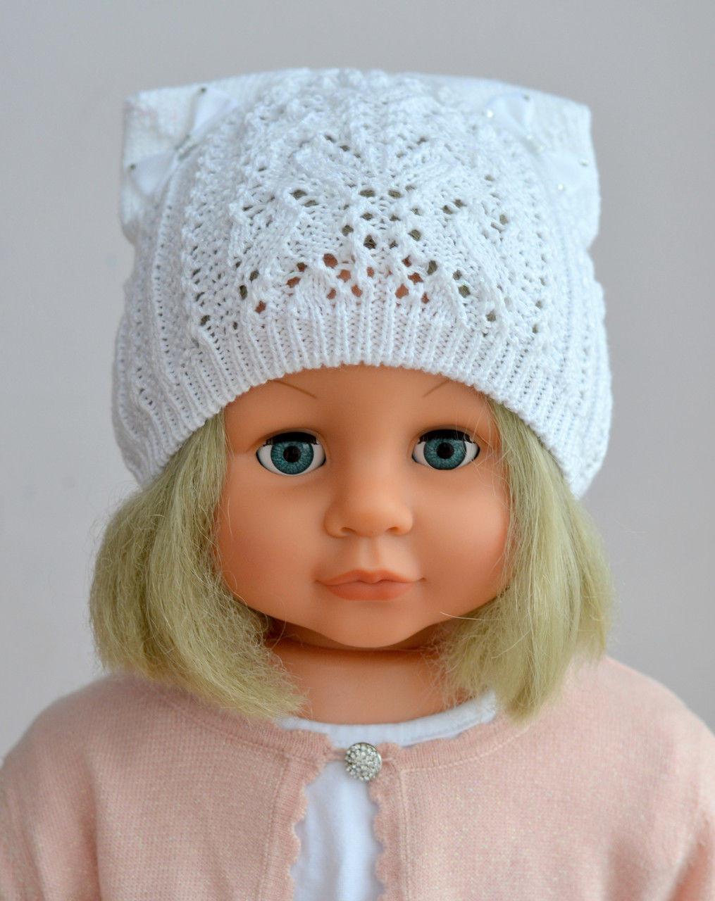 Очень красивая шапка для девочки