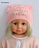 Очень красивая шапка для девочки , фото 2
