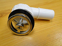 Сеточка круглая для перелива для кухонной мойки с ответной частью (хром/пластик)