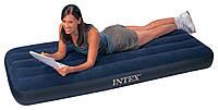 Надувной матрас Intex 68950 велюровый Intex 193*76*22 см, плавательный матрас