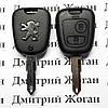 Корпус ключа для PEUGEOT (Пежо) 206, 2 - кнопки, лезвие NE73