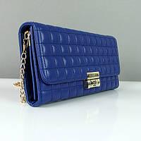 Клатч - сумочка женская кожа PU синяя Сhanel 2009