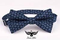 Галстук бабочка пейсли темно-синие