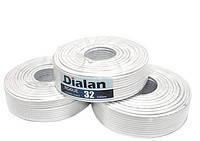 Коаксиальный кабель Dialan RG6U-32W6*100м ,сечение 1,02 мм, 75 Ом.
