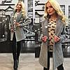 Трикотажное пальто с брошкой Шанель, фото 2