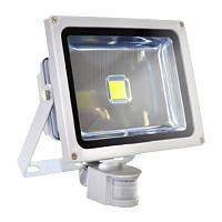 Прожектор LED 10w 6500K IP44 1LED LEMANSO серый с датчиком / LMPS10, прожектор с датчиком движения купить