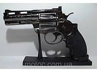 Подарочный револьвер зажигалка большая