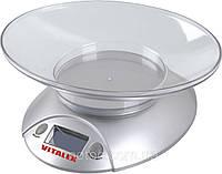 Весы кухонные Vitalex. Купить весы для кухни, весы с чашей. Весы домашние