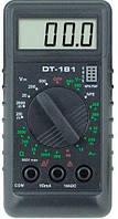 Компактный мультиметр DT-181, тестер цифровой, щупы в комплекте