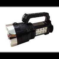 Фонарь аккумуляторный BW-6870, 1Вт + 8 боковых LED-диодов, 220В + солнечная батарея