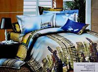 Покрывало на кровать двуспальное евро CLOBAN 3D город