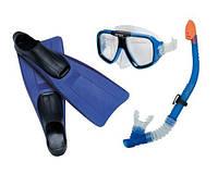 Набор Intex 55957 маска трубка ласты в сетке, плавательный набор, набор для плавания