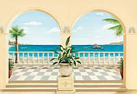Фотообои бумажные на стену 366х254 см 8 листов: природа, Провансальская терраса