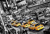 Фотообои бумажные на стену 366х254 см 8 листов: Такси ночного города