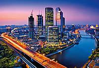 Фотообои бумажные на стену 366х254 см 8 листов: город Москва Сити