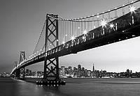 Фотообои бумажные на стену 366х254 см 8 листов:мост Сан-Франциско №134