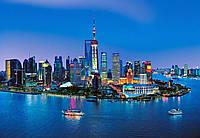 Фотообои бумажные на стену 366х254 см 8 листов:город Шанхай Горизонт