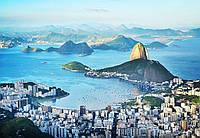 Фотообои бумажные на стену 366х254 см 8 листов: город Рио-де-Жанейро