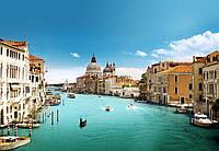 Фотообои бумажные на стену 366х254 см 8 листов: город Венеция, Большой канал