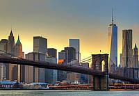 Фотообои бумажные на стену 366х254 см 8 листов: Город, Бруклинский мост  №148