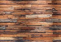Фотообои бумажные на стену 366х254 см 8 листов: Деревянная стена
