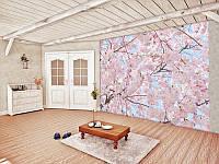 Фотообои бумажные на стену 366х254 см 8 листов: Розовые цветы №155