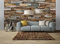 Фотообои бумажные на стену 366х254 см 8 листов: Красочная каменная стена