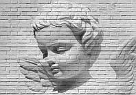 Фотообои бумажные на стену 366х254 см 8 листов: Ангел на стене
