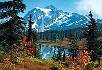 Фотообои бумажные на стену 366х254 см 8 листов: природа, Утро в горах №211