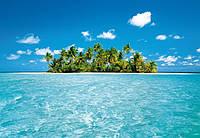 Фотообои бумажные на стену 366х254 см 8 листов: море, Мальдивский остров №289