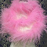 Боа однослойное страусиное, длинна 1,8м, цвет Pink