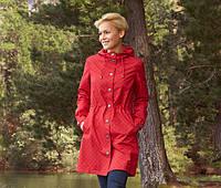 Плащ женский демисезонный непромокаемый красный весна-осень