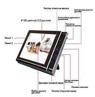 Домофон 806 С видео и фото регистрацией c датчиком движения на SD карту до 32Gb + 2 видеовхода, фото 5