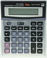 Деловой настольный калькулятор casio dm-1200v, металлическое покрытие, кнопки - пластик, двойное питание, фото 4