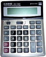Деловой настольный калькулятор casio dm-1200v, металлическое покрытие, кнопки - пластик, двойное питание, фото 6
