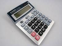 Деловой настольный калькулятор casio dm-1200v, металлическое покрытие, кнопки - пластик, двойное питание, фото 7
