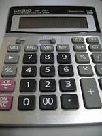 Деловой настольный калькулятор casio dm-1200v, металлическое покрытие, кнопки - пластик, двойное питание, фото 8