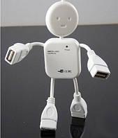USB HUB (разветвитель) на 4 порта Человечек HB-64, белый, фото 7