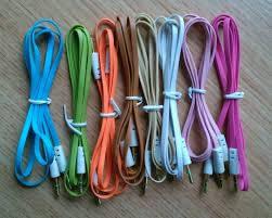 Аудио-кабель 3.5 jack M/M (лапша)  1,5м